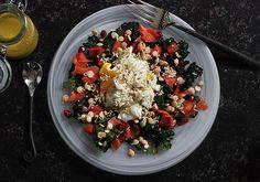 Massaged kale salad   LeafandGrain.com