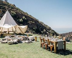 The chalkboard mag recently co-hosted a magical day in Malibu with Sunset Magazine, full of details that had us completely transported. Get a glimpse of Camp Sunset here. Lake Camping, Camping Glamping, Luxury Camping, Wedding Events, Weddings, Wedding Ideas, The Ranch, Photo Booth, Chalkboard Mag