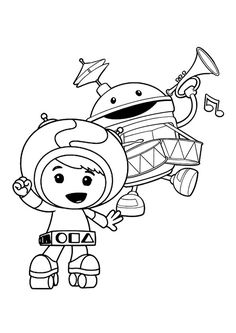 milli team umizoomi coloring pages | cartoon coloring pages ... - Team Umizoomi Bot Coloring Pages