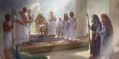 Moisés y Aarón delante del faraón