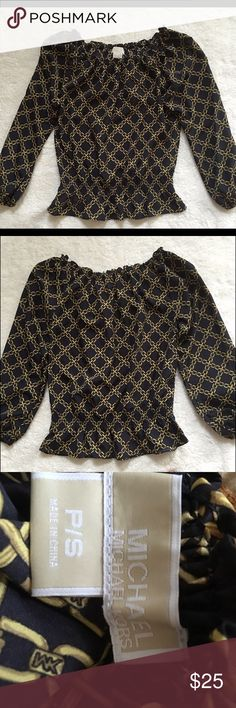 Michael Kors Blouse Gently worn Michael Kors blouse. Lovely elastic waist to accentuate curves in the best way! MICHAEL Michael Kors Tops Blouses