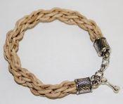 Leather Dog Bone Bracelet