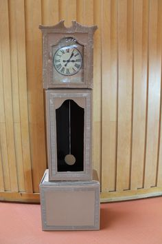 Cardboard Grandfather Clock (Life Size) by Anisha Mistry