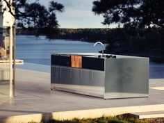 Röshults Kitchen Outdoor Island - 5M with Bar by Broberg & Ridderstråle - Chaplins