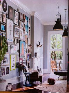 Living room. Home of Michiel Huisman and Tara Elders in New Orleans.