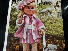 "Knitting Pattern Dolls Clothing To Fit 14 and 17"" Doll 4 ply Vintage by CraftybyLulu on Etsy"