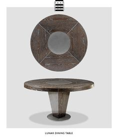 BERMAN ROSETTI Tables are very distinctive. Lovely stuff. Residential Interior Design, Best Interior Design, Made Of Wood, Furniture Making, Contemporary Style, Home Goods, Dining Table, Dream Homes, Metal