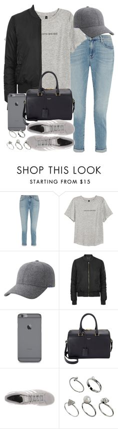 """""""Untitled #3508"""" by hellomissapple on Polyvore featuring Frame Denim, H&M, Keds, Topshop, Yves Saint Laurent, adidas Originals, ASOS, women's clothing, women and female"""