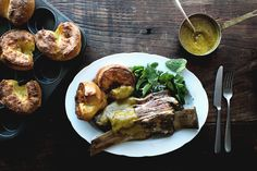 Roasted Short-Ribs With Curried Gravy And Yorkshire Pudding