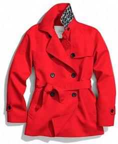 red coach coat