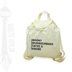 Rucksäcke - Jute-Rucksack 'Moony,Taze & Krone' - ein Designerstück von RaketeBerlin bei DaWanda