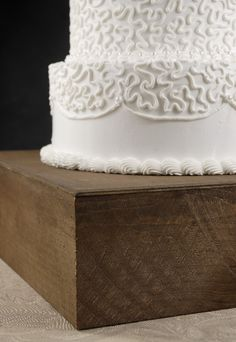 """$49.00 14"""" Square Rustic Barn wood cake stand"""