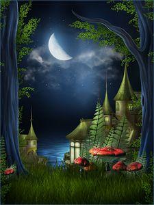 Pure Fantasy, Plain and Simple Fantasy Places, Fantasy World, Fantasy Art, Elfen Fantasy, Fairy Paintings, Fantasy Forest, Fantasy Castle, Mushroom Art, Fantasy Landscape