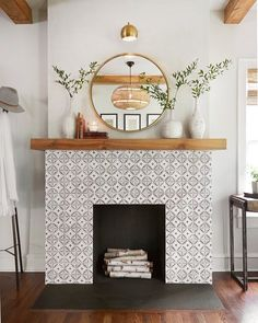 "563 Likes, 5 Comments - Hutch (@hutchapp) on Instagram: ""All about this tile fireplace by @magnolia"""
