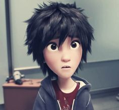 hiRO FROM BIG HERO 6 LOOKS LIKE HICCUP FROM HTTYD<----OMG!So true!And I haven't even watched the movie and I'm already crushing on him.He's just adorable,why can't guys my age ever look as cute as Hiro?! >_<
