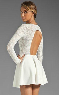$28.00 | Backless long sleeve lace dress