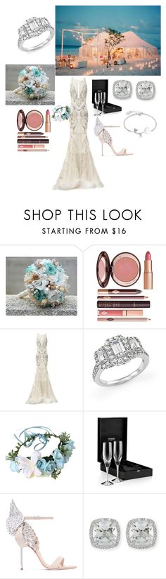 """Untitled #53"" by tearra-black ❤ liked on Polyvore featuring Charlotte Tilbury, Rachel Gilbert, Bloomingdale's, Sophia Webster, Frederic Sage and Disney"