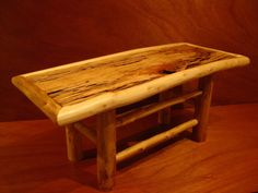 Custommade Maple Log Table with Spalted Maple by Lumberjackroots