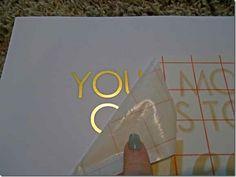 DIY Gold Foil Print Using Silhouette Printable Foil | Deepest Ocean Blue
