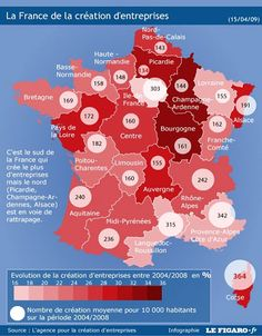 Who can and can't start a business in #France ? #Infographic of regions that create more businesses