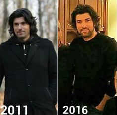 Handsome then and now :