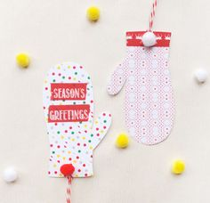 Easy DIY Washi Tape Mitten Gift Tags for your homemade Christmas gifts.