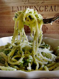 Broccoli pasta - I would subtitute toasted pine nuts for the panceta.