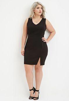 Plus Size Lace Up-Back Dress