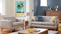 Lloyd 2 Piece Fabric Lounge Suite - Living Room - Furniture, Outdoor & BBQs   Harvey Norman Australia
