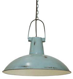 <p>Wat een stoere hanglamp van Kidsdepot in old blue.<br />Dankzij de 'beschadigde' verf geeft de lamp je kinderkamer een industriele look.<br />De lamp heeft een doorsnede van 45 cm.</p> Light My Fire, Light Of My Life, Pretty Pastel, Kidsroom, Decorative Bells, House Design, Ceiling Lights, Pure Products, Lighting