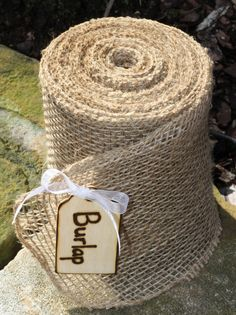 5 Bolts Rustic Burlap Ribbon For Wedding by MichelesCottage, $135.00