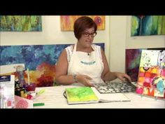 Donna Downey's stenciling technique with Gelatos® is one of the most versatile tips! Try it on cards, layouts, canvases, and more!
