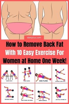Lower back fat exercises that will help you tone your muscles. If you are asking yourself how to lose back fat in one week, well I have news for you, you will have to… Back Fat Workout, Belly Fat Workout, Fat Burning Workout, Week Workout, Lose Fat Fast, Fat To Fit, Lose Belly Fat, Abs Fast, Dos Gras