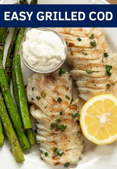 This delicious 15 minute grilled cod is slathered in a savory butter sauce and then perfectly grilled for a light smoky flavor. It is easy to toss together and my fish grilling tips will have you serving up perfect fish fillets in no time! Healthy Grilling, Grilling Recipes, Fish Recipes, Seafood Recipes, Grilling Tips, Dinner Recipes, Cooking Recipes, Healthy Recipes, Tilapia Recipes