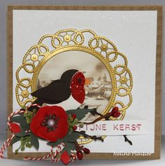 Card by DT member Neline with Creatables Flower Doily (LR0388), Collectables Eline's Birds (COL1392) and Eline's Heeleborus (COL1394) by Marianne Design