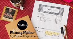 Morning Routine: My Personal Experience Routine, About Me Blog, Artsy