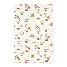 VANDRING IGELKOTT Fabric from IKEA.  $7.99.  This would be cute for making throw pillows and curtains in the nursery.