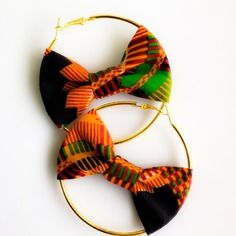Boucle d'oreille feed ghana multicolore