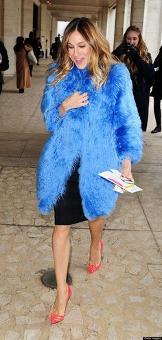Check out that coat!  Love the shoes  SJP at NYC ballet