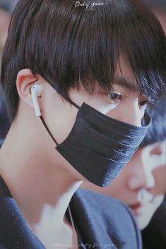 Jin with black hair