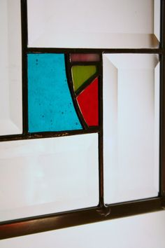 Modern Stained Glass Geometric Craftsman by willowstainedglass, $42.00