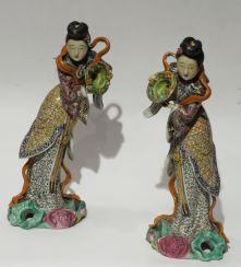 zwei Schönheiten China, Porzellan