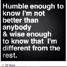 Humble words