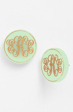 Moon and Lola 'Chelsea' Medium Personalized Monogram Stud Earrings (Nordstrom Exclusive) | Nordstrom