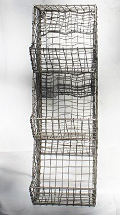 New Color!  Our Glory & Grace Rustic Industrial Wall Mount Metal and Wire General Store Multi-Bin Storage Baskets now come in a sleek, shiny metallic Stainless Steel Silver Enamel Finish!! Glory & Grace http://www.amazon.com/dp/B016YW5IJ0/ref=cm_sw_r_pi_dp_Aftkwb1224NJS