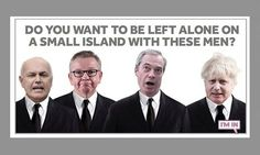 Rejected remain campaign posters revealed by ad agencies Political Advertising, Political Posters, Political Campaign, Political Satire, Political Cartoons, Posters Uk, Campaign Posters, Funny Images, Funny Photos