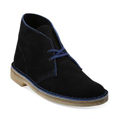 Desert Boot in Navy Suede - Mens Boots from Clarks
