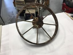 Antique Steel Iron Wagon Wheels With Axle Farm