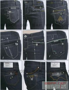 0105 Denim Fashion, Girl Fashion, Colored Jeans, Jeans Style, Punch, Denim Jeans, Indigo, Menswear, Embroidery