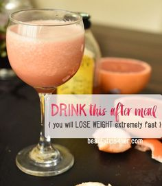 Just a few sips will help burn many of the calories you consumed in a meal. You'll also be aiding your heart when you drink this juice throughout the day.   Look Good Naturally